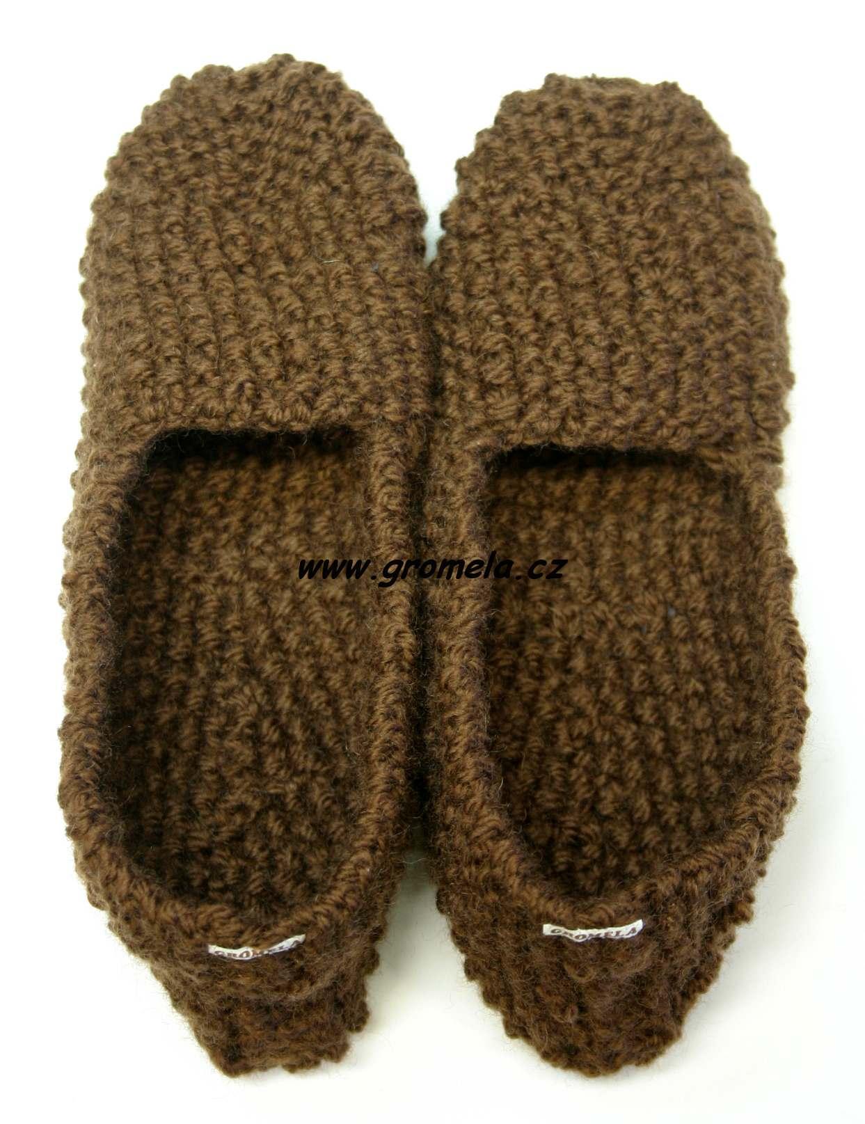 Papuče ze 100% ovčí vlny  4ea945e8ea