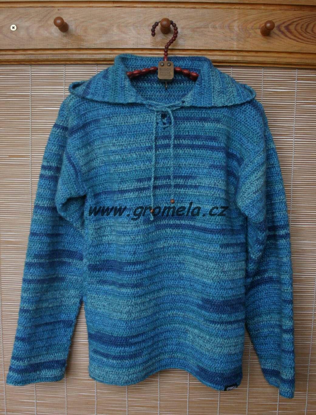 Háčkovaný svetr (75% vlna superwash 3a79683c25