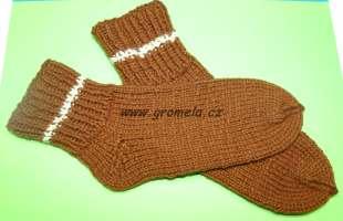 Ponožky hnědé vel.30-34. Pletené ... bc9c4b9e82